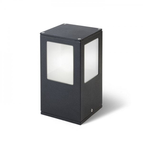 RENDL outdoor lamp PONDER 20 wall or bollard black 230V E27 18W IP44 R10367 1
