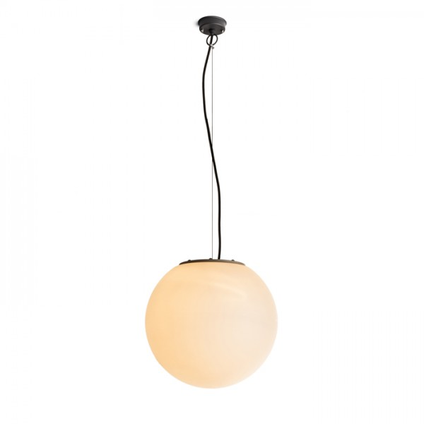 RENDL outdoor lamp BABYMOON 38 pendant or ground satinchromeated PE 230V E27 23W IP44 R10371 1