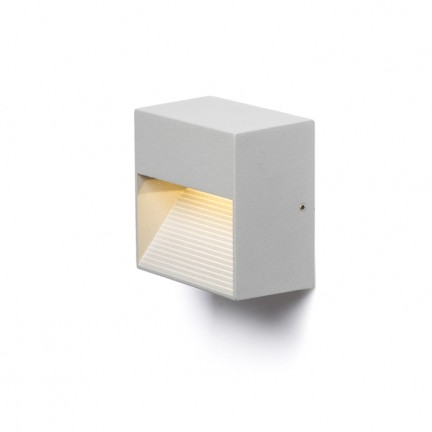 RENDL outdoor lamp ITAKA wall silver grey 230V LED 2W IP54 3000K R10379 1