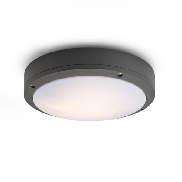 RENDL venkovní světlo SONNY stropní antracitová 230V E27 2x18W IP54 R10382 1