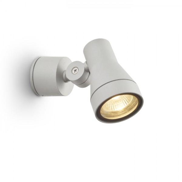DIREZZA nástenná striebornosivá  230V GU10 35W IP54