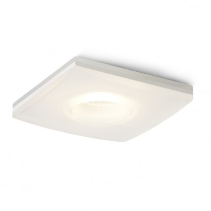 RENDL recessed light KAY SQ recessed satinated glass 230V/350mA LED 5W 3000K R10418 1