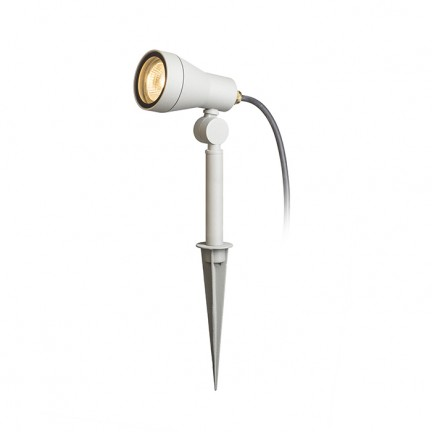 RENDL outdoor lamp DIREZZA on spike silver grey 230V GU10 35W IP54 R10427 1
