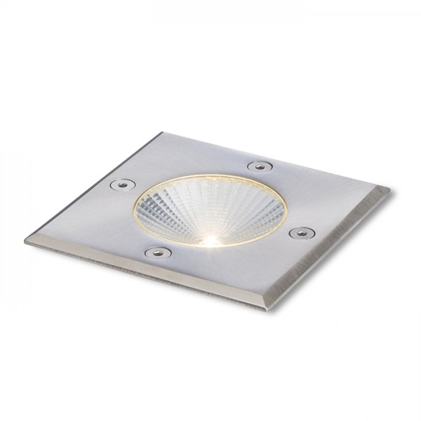 RENDL outdoor lamp RIZZ SQ 105 stainless steel 230V LED 3W 96° IP65 3000K R10436 1