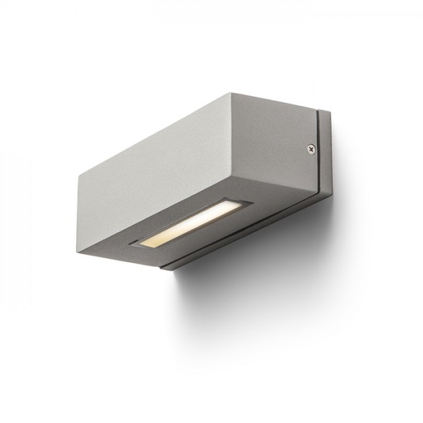 RENDL outdoor lamp WOOP wall silver grey 230V E14 48W IP54 R10438 1