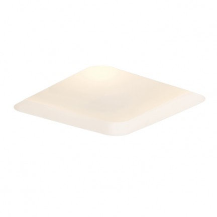 RENDL recessed light MIA SQ recessed plaster/satinated glass 230V E27 2x18W R10443 1