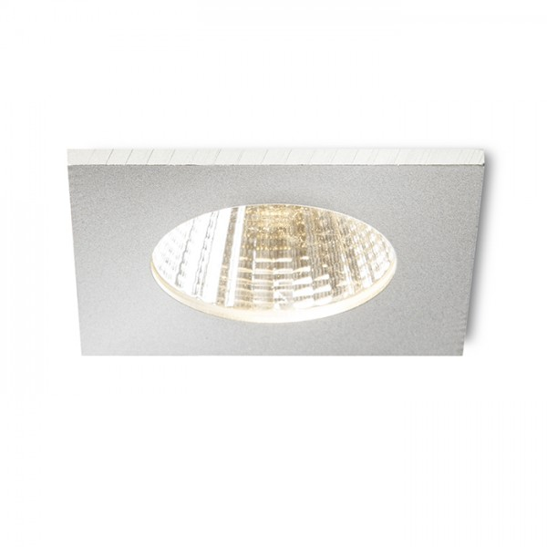 RENDL recessed light ICCO SQ recessed silver grey 230V/350mA LED 7W 3000K R10456 1