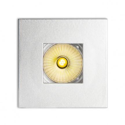 RENDL luz empotrada RONA direcional con abertura cuadrada gris plata 230V/350mA LED 5W 3000K R10459 1