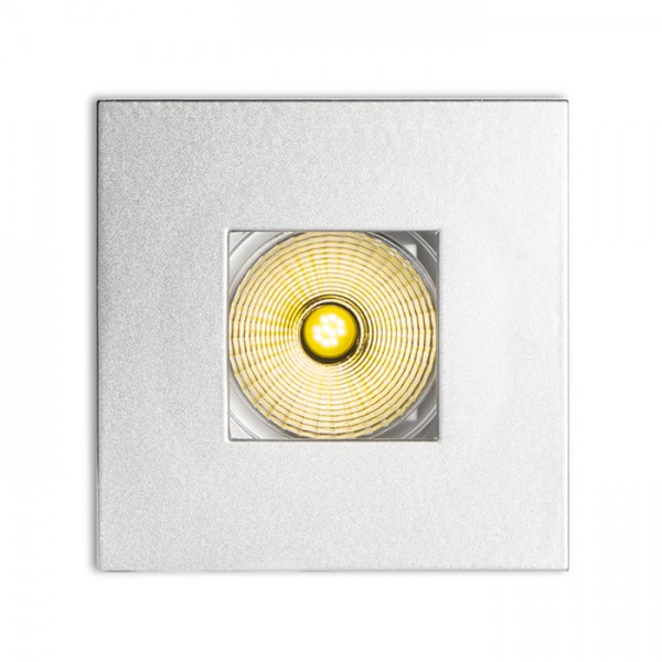 RENDL recessed light RONA directional with square opening silver grey 230V/350mA LED 5W 3000K R10459 1
