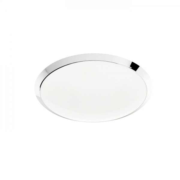 RENDL surface mounted lamp SOHO 60 ceiling frosted glass/chrome 230V 2GX13 55W R10482 1
