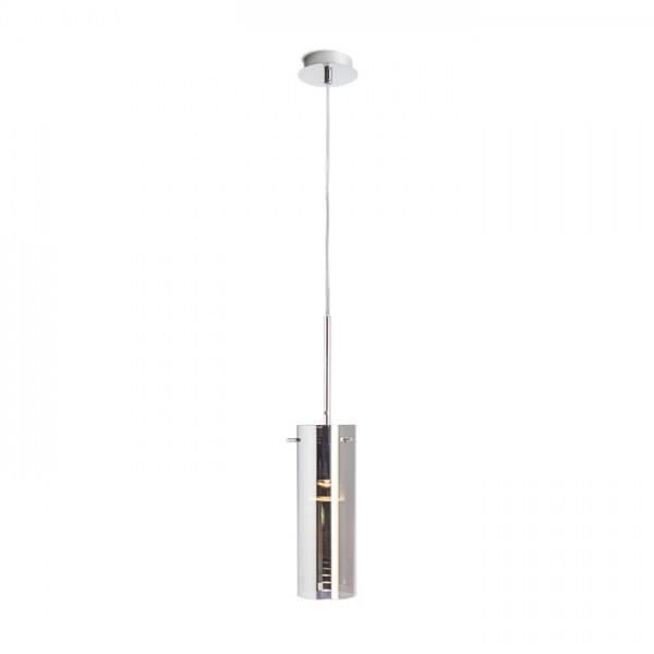 RENDL suspension SANSSOUCI I suspension verre teinté chromé 230V E27 42W R10509 1