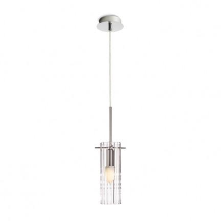 RENDL hanglamp GIFT I hanglamp Helder glas/Chroom 230V E14 42W R10510 1