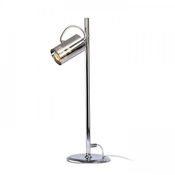 RENDL table lamp BUGSY table chrome-tinted glass 230V GU10 50W R10519 1
