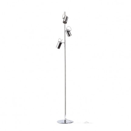 RENDL floor lamp BUGSY floor chrome-tinted glass 230V GU10 3x50W R10520 2