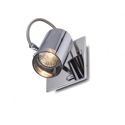 RENDL spotlight BUGSY I wall chrome-tinted glass 230V GU10 50W R10521 1