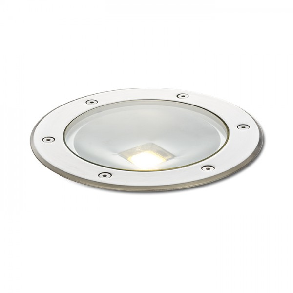 RENDL outdoor lamp TERRA recessed stainless steel 230V LED 20W 120° IP65 3000K R10532 1