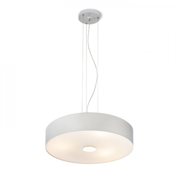 RENDL suspension MONA suspension gris argent 230V E27 3x42W R10537 1