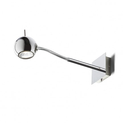 RENDL spotlight GLOSSY on a goose neck chrome 230V LED GU10 8W R10543 1