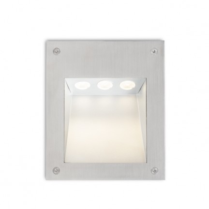 RENDL outdoor lamp AKORD wall recessed stainless steel 230V LED 3W IP65 3000K R10546 1