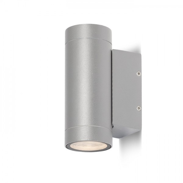 RENDL outdoor lamp MIZZI II silver grey 230V GU10 2x35W IP54 R10553 1