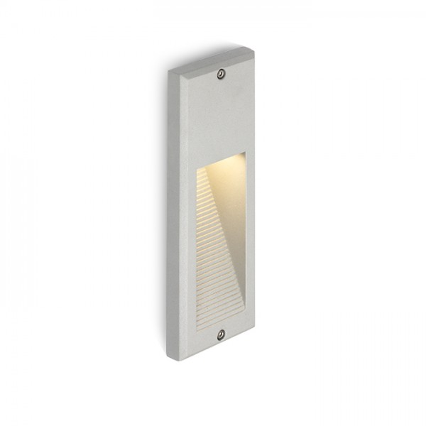 RENDL outdoor lamp FACA recessed silver grey 230V LED 2W IP54 3000K R10557 1