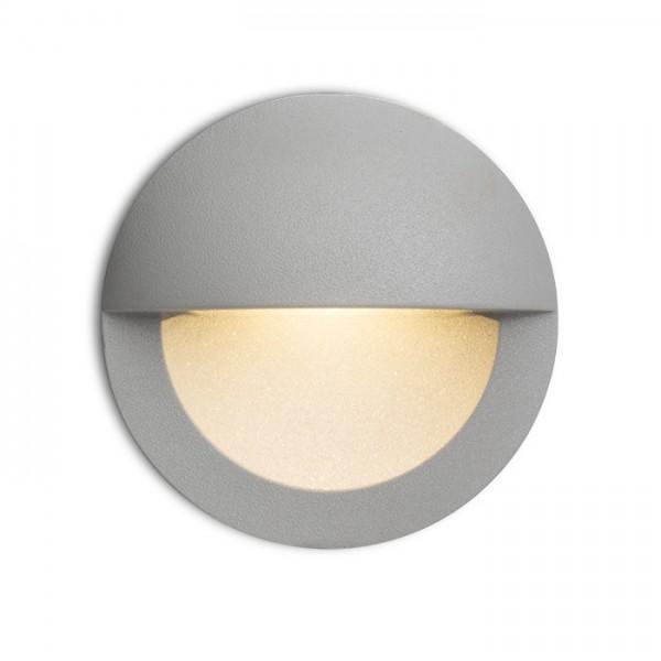 RENDL udendørslampe ASTERIA indbygget sølvgrå 230V LED 3W IP54 3000K R10558 1