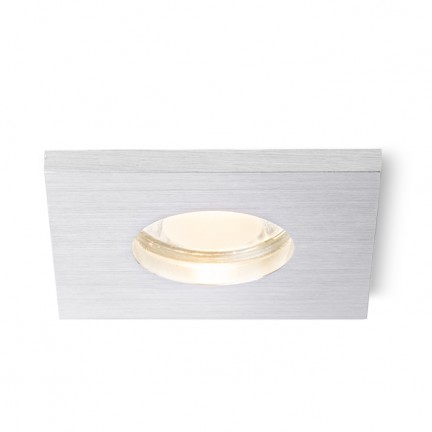 RENDL recessed light ASTOR SQ brushed aluminium 230V GU10 50W IP65 R10574 1