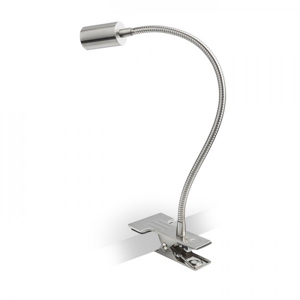 RENDL spotlight VERSA with clip matt nickel 230V LED 3W 40° 3000K R10579 1