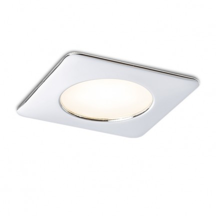 RENDL verzonken lamp INEZ SQ Chroom 12= LED 3W IP44 3000K R10587 1