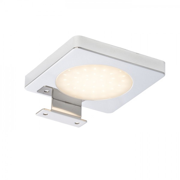RENDL lámpara de pared YOLO SQ sobre espejo cromo 12= LED 4W IP44 3000K R10588 1