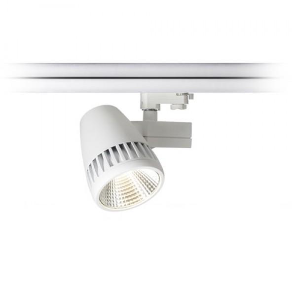 RENDL tiras y sistemas LED CIGY para carril trifásico blanco 230V LED 50W 30° 3000K R10594 1