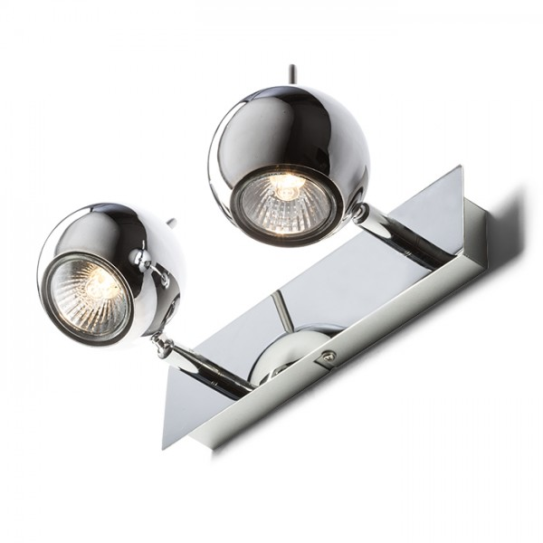 RENDL spotlight GLOSSY II chrome 230V LED GU10 2x8W R10599 1