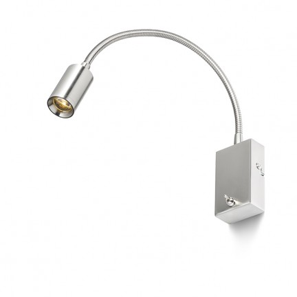 RENDL spot encastrable VERSA murale matt nickel 230V LED 3W 40° 3000K R10602 1