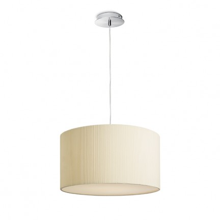 RENDL suspension LALO 40 suspension blanc crème nickel mat 230V E27 3x42W R10605 1