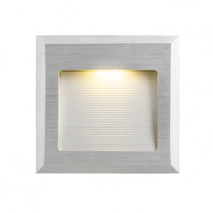 RENDL recessed light INTRO M brushed aluminium 350mA LED 1W 3000K R10606 1