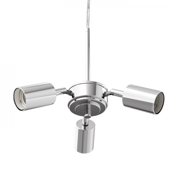 RENDL shades and accessories, bases, pendent sets TRIX pendant set chrome 230V E27 3x42W R10615 1