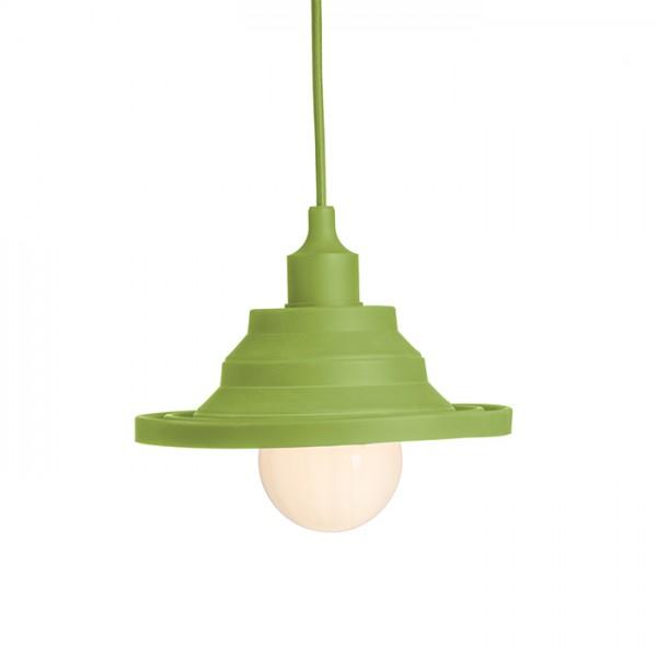 AMICI závesná silikónová lampa zelená  230V E27 42W