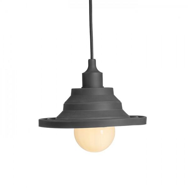 AMICI závesná silikónová lampa čierna  230V E27 42W