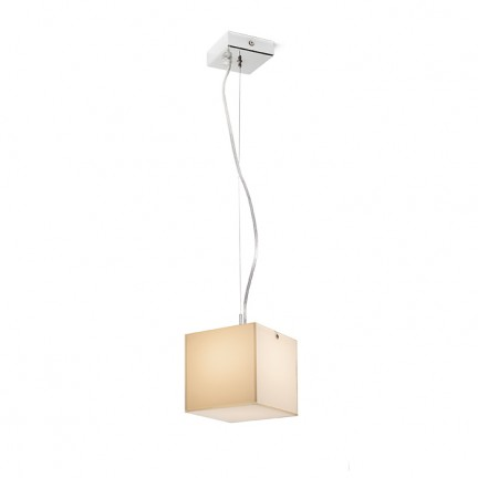 RENDL hanglamp LUCIA 15x15 hanglamp Gesatineerd glas/Chroom 230V G9 33W R10628 1