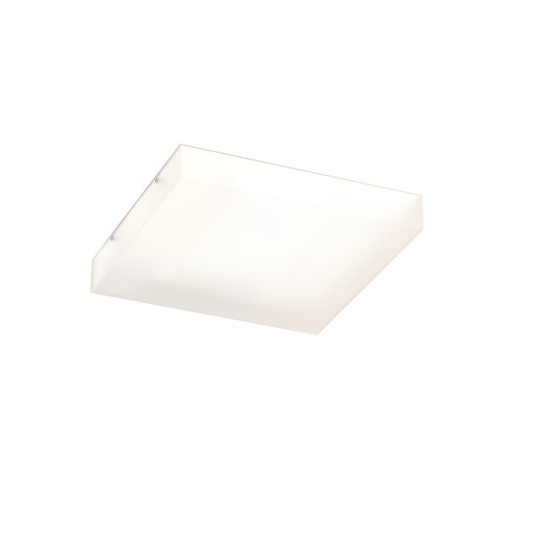 RENDL surface mounted lamp STRUCTURAL 40×40 surface mounted satinated glass 230V 2G11 2x24W R10631 1