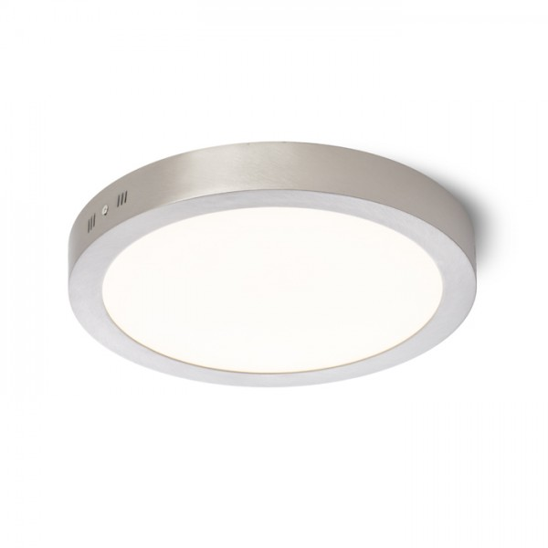 RENDL surface mounted lamp SLENDER R 30 surface mounted matt nickel 230V LED 24W 3000K R11283 1