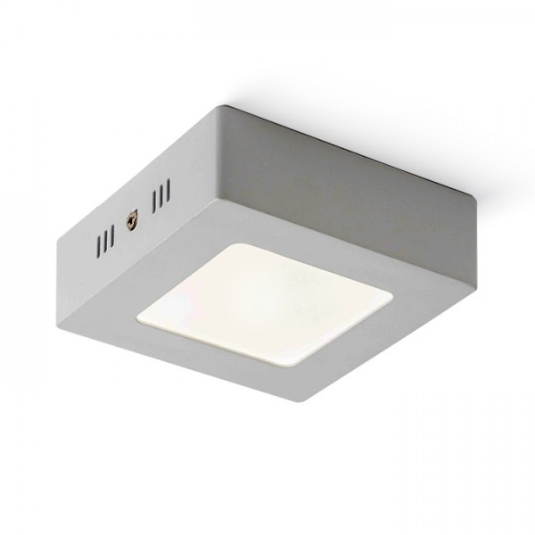 RENDL lámpara de techo SLENDER SQ 12 montadas en superficie níquel mate 230V LED 6W 3000K R11284 1