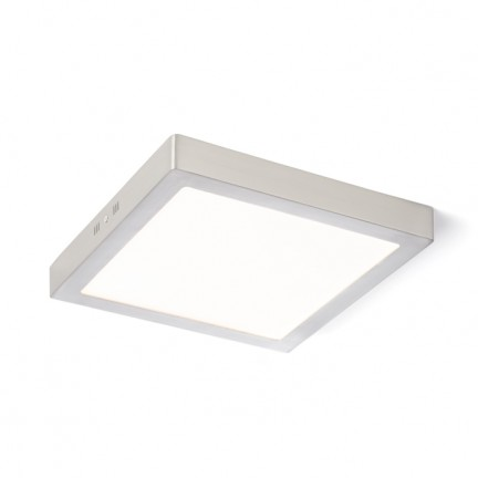 RENDL lámpara de techo SLENDER SQ 30 montadas en superficie níquel mate 230V LED 24W 3000K R11286 1