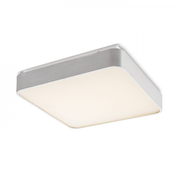 RENDL surface mounted lamp MENSA SQ 40 ceiling brushed aluminium 230V LED 36W 3000K R11290 1