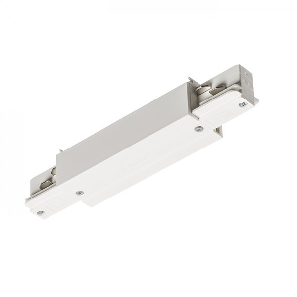 RENDL LED strips and systems EUTRAC straight connector with feed-in white 230V R11320 1