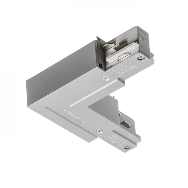 RENDL Track lights, LED strips and system lighting EUTRAC L connector outer polarity silver grey 230V R11325 1