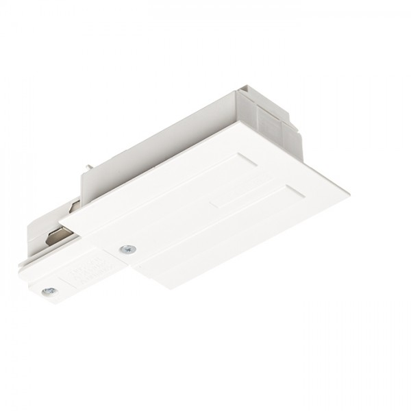 RENDL Track lights, LED strips and system lighting EUTRAC feed-in for recessed 3-circuit tracks, polarity left white 230V R11342 1