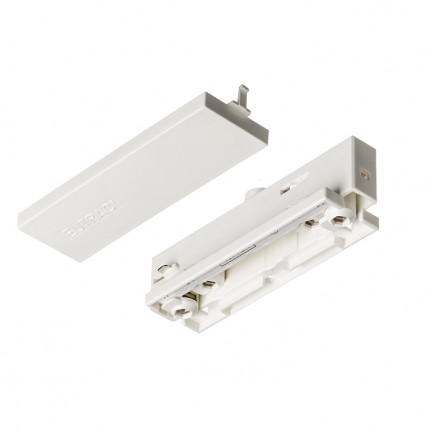 RENDL Track lights, LED strips and system lighting EUTRAC straight connector with feed-in white 230V R11346 1