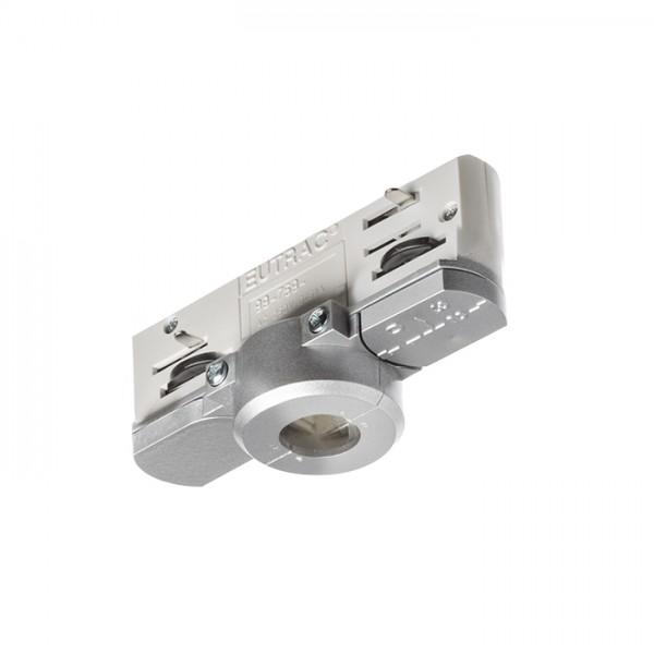EUTRAC adaptér pre trojokruh. lištu striebornosivá  230V