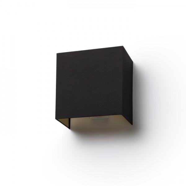 LOPE W 25/14 nástenná  Pollycotton čierna/zlatá fólia 230V E27 28W